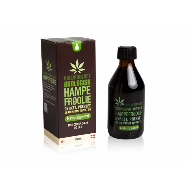 Økologisk hampefrøolie 250 ml.
